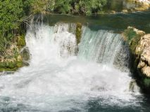 Waterfalls in Krka National Park Royalty Free Stock Image