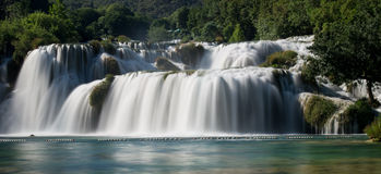Waterfalls in Krka National Park Royalty Free Stock Images