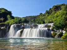 Waterfalls in Krka National Park Stock Images