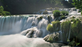 Waterfalls in Krka National Park. Incredible waterfalls in Krka National Park, Croatia Royalty Free Stock Photography