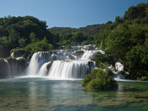 Waterfalls in Krka National Park. Incredible waterfalls in Krka National Park, Croatia Royalty Free Stock Photos