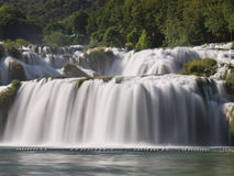 Waterfalls in Krka National Park Stock Image