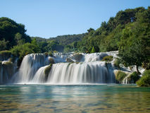 Waterfalls in Krka National Park. Incredible waterfalls in Krka National Park, Croatia Royalty Free Stock Photo
