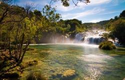 Waterfalls Krka national park Royalty Free Stock Photo