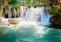 Waterfalls in  Krka National Park, Croatia Royalty Free Stock Photography