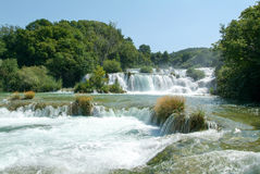 Waterfalls of the Krka national park Stock Image