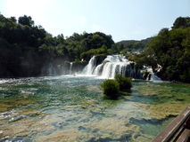 Waterfalls in the Krka National Park, Croatia Royalty Free Stock Photography