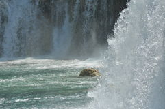 Waterfalls in Krka National Park in Croatia. Strength and picturesque miracle Stock Photos