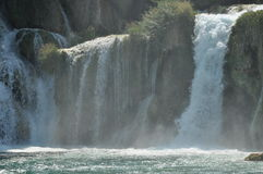 Waterfalls in Krka National Park in Croatia. Strength and picturesque miracle. Of nature Stock Photos