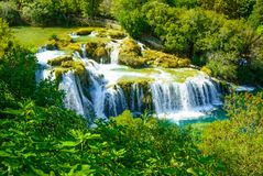 Waterfalls Krka, National Park in Croatia stock photography
