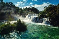 Waterfalls Krka Stock Images