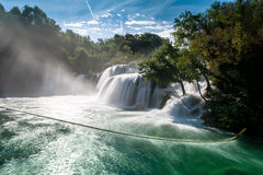 Waterfalls Krka Stock Photography