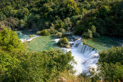 Waterfalls Krka Stock Photography