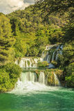 Waterfalls in Krka National Park,(Skradinski Buk) Dalmatia,Croat Royalty Free Stock Images