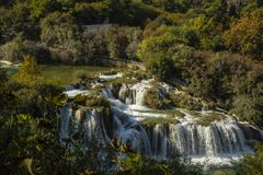 Krka Waterfalls National Park, Croatia, Europe stock photography