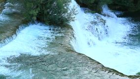 Waterfalls, Krka NP, Dalmatia, Croatia, Europe stock video footage