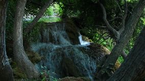 Waterfalls, Krka NP, Dalmatia, Croatia, Europe stock footage