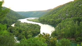 Waterfalls, Krka NP, Dalmatia, Croatia, Europe Stock Image