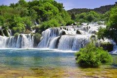 Waterfalls on Krka River Royalty Free Stock Photos