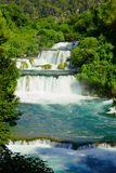 Waterfalls on Krka river in Croatia Royalty Free Stock Image