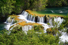 Waterfalls on Krka River. National Park, Croatia Stock Photography