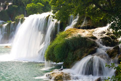 Waterfalls on Krka River. National Park, Dalmatia, Croatia Royalty Free Stock Photos