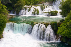 Waterfalls on Krka River. National Park, Dalmatia, Croatia Royalty Free Stock Images