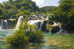 Waterfalls on Krka River Stock Images