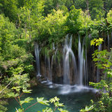 Waterfalls and lake in national park Plitvice Lakes Stock Photography