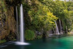 Waterfalls and lakes in Plitvička jezera national park, Croatia Royalty Free Stock Images