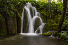 Waterfalls and lakes in Plitvička jezera national park, Croatia Stock Image