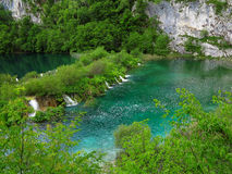 Waterfalls and lakes in Plitvice National Park Royalty Free Stock Photo