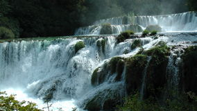 Waterfalls. Landscape - big waterfalls in Croatia Stock Photography