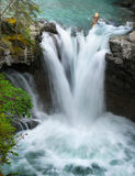 Waterfalls, Landscape,  River, Wilderness, Canyon Royalty Free Stock Images