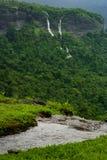 Waterfalls at Maharashtra, India. Series of waterfalls near Karjat, Thane, India royalty free stock images