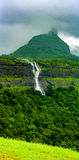 Waterfalls at Maharashtra, India. Series of waterfalls near Karjat, Thane, India stock photography