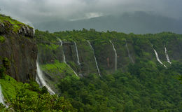 Waterfalls at Maharashtra, India. Series of waterfalls near Karjat, Thane, India stock photo