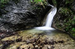 Waterfalls in Mala Fatra Royalty Free Stock Images