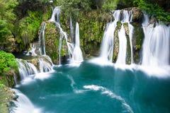 Waterfalls of Martin Brod, Bosnia and Herzegovina Royalty Free Stock Photography