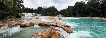 Waterfalls in Mexico Stock Image