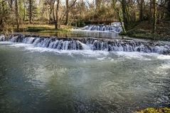 Waterfalls at Monasterio de Piedra, Zaragoza, Aragon, Spain Royalty Free Stock Photography