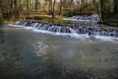 Waterfalls at Monasterio de Piedra, Zaragoza, Aragon, Spain Stock Images