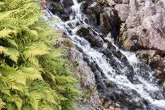 Waterfalls in mountain in Poland. Royalty Free Stock Photography