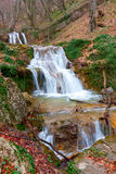 Waterfalls on mountain river Stock Image