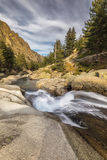 Waterfalls in the mountains of Restonica valley in Corsica Stock Photo