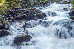 Waterfalls in the mountains Royalty Free Stock Image