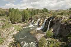 Waterfalls Muradiye. Muradiye waterfall in eastern Turkey Royalty Free Stock Photo