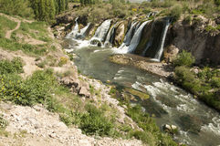 Waterfalls Muradiye. Muradiye waterfall in eastern Turkey Stock Photo