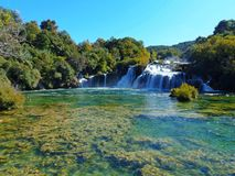 The waterfalls of the National park of Krka. The national park of Krka river Stock Photo