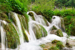 Waterfalls in national park. Plitvice. Waterfalls in national park. Plitvice, Croatia. Popular touristic destination Stock Photos